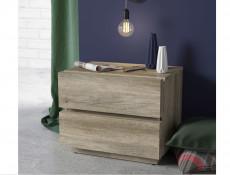 Modern 2-Drawer Bedside Nightstand Table Cabinet Storage Unit Oak - Anticca