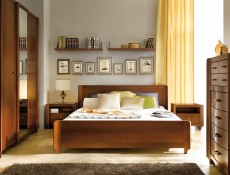Classic King Size Bedroom Furniture Set Solid Wood Cherry finish - Alevil (BDRM SET)