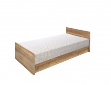 Single Ottoman Storage Bed Daybed with Bed Frame Mattress Headboard Oak - Malcolm (S325-LOZ/90-DAMO-KPL01+TIAGO_MATTRESS)