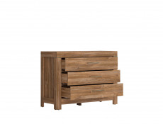 Modern Oak finish Chest of Drawers - Gent