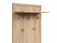 Modern Coat Hooks Rack Hallway Entrance Hall Oak - Kaspian