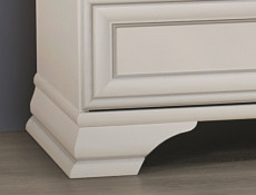 Classic White Matt Chest Of Drawers Elegant Spacious Wide Bedroom Furniture Unit - Idento