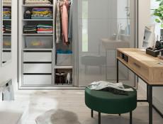 Industrial Narrow Console Hallway Table Sideboard with Drawer Metal Legs Light Oak Effect Finish - Gamla