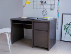 Modern Study Office Computer Desk with Cabinet & Drawer Wenge 120cm - Kaspian (S128-BIU1D1S/120-WE/WE-KPL01)