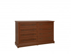 Vintage inspired Large Sideboard Chest of 8 Drawers Dark Wood Tone - Kent (EKOM 8S)