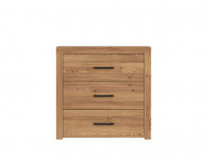Modern Wide Chest of 3 Drawers in Oak finish - Vasto