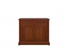 Vintage inspired Small Sideboard Dresser Cabinet Dark Wood Tone - Kent (EKOM 2D2S)