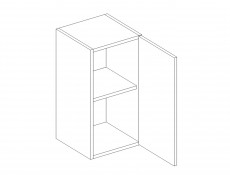 Free Standing White/Cream Gloss Kitchen Cabinet Cupboard Wall Unit 40cm - Modern Luxe (Luxe W40/58 Cream)