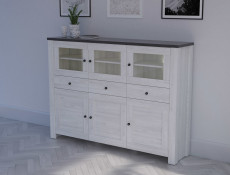 Sideboard Dresser Cabinet with LED Lights - Antwerpen (KOM3W3D3S)