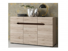 Modern Large Sideboard Dresser Cabinet with Doors and Drawers in Light Oak Effect finish - Elpasso