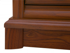 Bedside Cabinet Table Classic Style Traditional Bedroom Furniture Chestnut Finish - Kent (S10-EKOM1s-KA-KPL02)