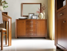 Traditional Two Door Wardrobe Solid Wood - Alevil (SZF2D)