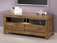 Modern Living Room Media Bench TV Cabinet Storage Unit 139 cm Oak - Gent