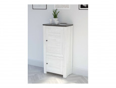 Tall Cabinet Shabby Chic Scandinavian Style White Wash - Antwerpen