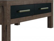 Modern Coffee Table Rectangular with 2 Drawers Oak/Black - Balin (S365-LAW2S/110-DMON/DCA-KPL01)