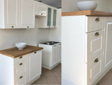 White High Gloss Kitchen 7 Cabinets Unit Set Shaker Cupboards Country Modern Style - Antila