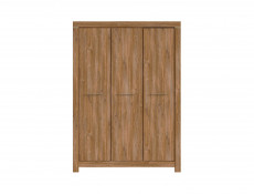 Modern Triple Wardrobe in Oak finish - Gent (SZF3D/21/15)