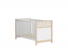 Modern White / Beech Kids Baby Nursery Furniture Set Rocking Horse Design Cot Bed Wardrobe Chest - Timon
