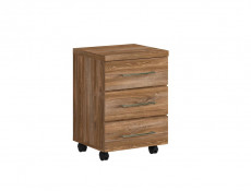 Modern Pedestal Drawer Unit Home Office Mobile Storage Drawers Oak - Gent