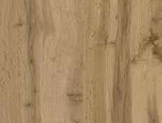 Scandinavian Free Standing 2-Door Double Wardrobe with Drawer White Gloss/Oak - Holten