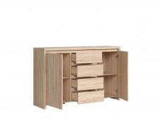 Sideboard Dresser Cabinet Storage Drawers Sonoma Oak - Kaspian (S128-KOM2D4S-DSO/DSO-KPL01)