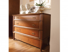 Vintage inspired Chest of Drawers Cherry Wood Veneer - Orland (KOM4S/120)
