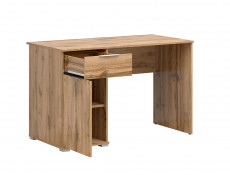 Modern Oak effect Computer Desk with Drawer for Home Office Study 120cm - Zele