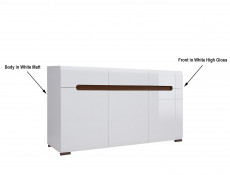 Living Room Display Cabinet Sideboard Set - Azteca (AZTECA LIV SET)