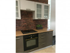 Light Grey Kitchen Extractor Housing 600 Wall Cabinet 60cm Cupboard 1 Door Unit Matt Finish - Paula