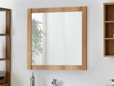 Classic Square Wall Mounted Bathroom Mirror 80cm Oak - Classic Oak