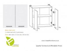 Modern Modular Kitchen Cabinets Cupboards Set of 7 Units Light Delano Oak/White Gloss - Junona (K24-JUNONA_MODUL/240-BI/BIP/DDJ/LMC-KPL01)