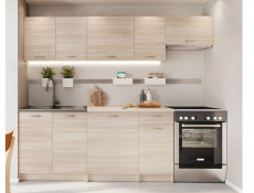 Complete Kitchen Set of 7 Cabinets Units Flat Pack in Sonoma Oak with Franke Sink – Nela 2