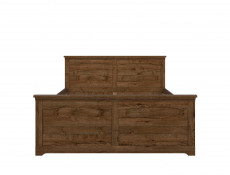 Traditional King Size Bed Frame Classic Bedroom Headboard Dark Oak - Patras (S405-LOZ/160-DARL + WKLAD 160/16)