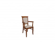 Dining Chair with Armrests Traditional Dining Room Furniture Chestnut Finish - Kent