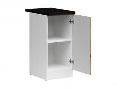 Modern Free Standing Kitchen Cabinet 400 Base Cupboard Unit 40cm Right Hand Light Delano Oak - Junona (K24-D1D/40/82_P-BI/DDJ/LMC-KPL01)