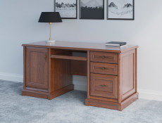 Vintage inspired Large Desk for Home Office Study Chestnut finish - Kent (EBIU/158K)