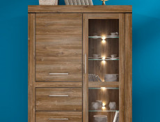 Glass Display Cabinet with LED Lights - Gent (REG1W1D2S/16/12)