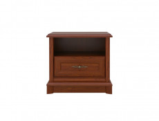 Bedside Cabinet Table Classic Style Traditional Bedroom Furniture Chestnut Finish - Kent