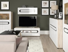Wall Cabinet White High Gloss - Byron