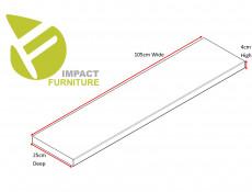 Modern Short Shelf Floating Wall Mounted Design Wenge Dark Wood Effect Finish 105cm - Kaspian (S128-POL/100-WE-KPL01)