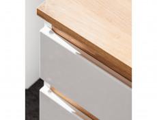 Modern Vanity Bathroom Cabinet Unit Drawers with Sink White Matt/White Gloss  - Platinum