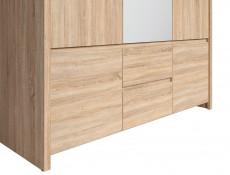 Modern Three Door Wardrobe Sonoma Oak - Kaspian (S128-SZF5D2S-DSO/DSO-KPL01)