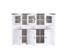Antwerpen - Sideboard Dresser Cabinet with LED Lights (KOM3W3D3S)