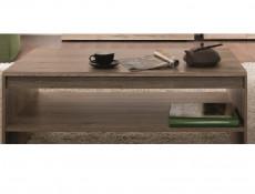 Sturdy Sleek Light Oak Effect Coffee Table with Spacious Storage Shelf - Elpasso (S314-LAW/110-DSAJ-KPL01)