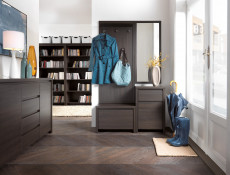 Shoe Cabinet Hallway Wenge Entrance Hall - Kaspian (S128-SBUT/60-WE/WE-KPL01)