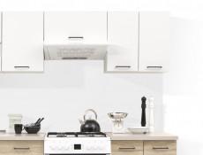 Modern Kitchen Wall Cabinet 600 Cupboard 60cm 2-Door Unit White/White Gloss - Junona (K24-G2D/60/57-BI/BIP-KPL01)