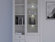 Antwerpen - Glass-Fronted Display Cabinet with LED Lights (REG1W1D3S/20/10)