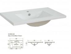 Classic Vanity Bathroom Cabinets Set Freestanding 80cm Oak - Classic Oak