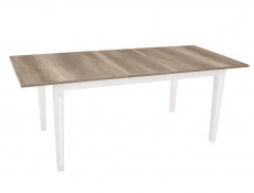 Extendable Dining Table Removable Leaf Country Style White/Oak Finish - Cannet (D09014-STO_CANNET-DAMO/TX098)