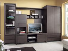 Modern Two Door Storage Cabinet Wenge Dark Brown - Kaspian (S128-REG2D2S-WE/WE-KPL01)